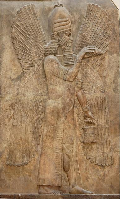 100 Джинн. Древнеассирийский каменный рельеф